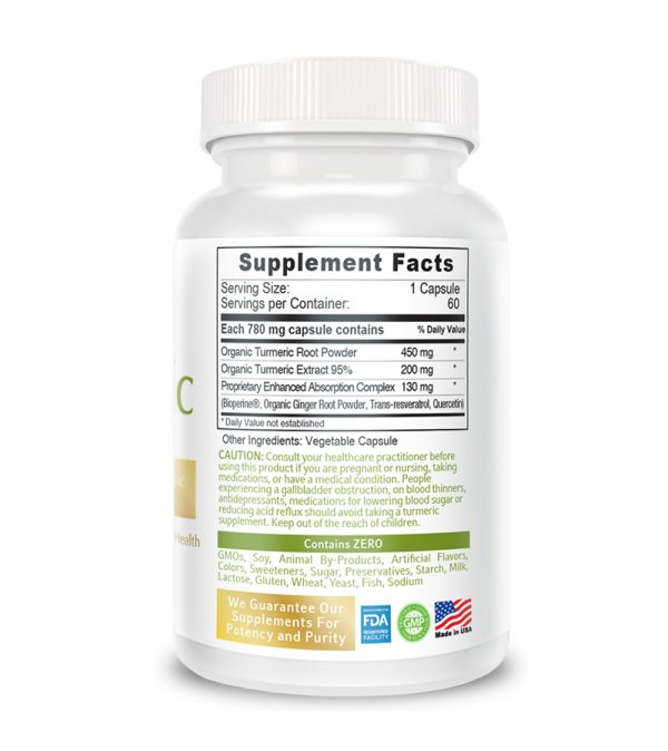 back turmeric supplement facts